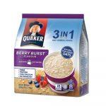 Thức uống yến mạch Quaker vị dâu 3in1 12 gói x 28g